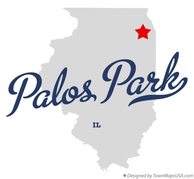 Map of Palos Park Illinois IL