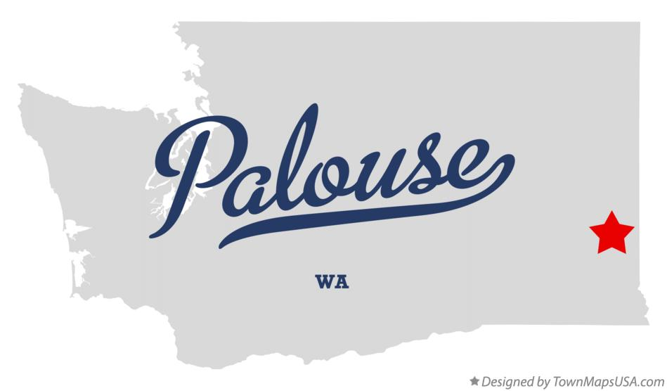 Map of Palouse Washington WA