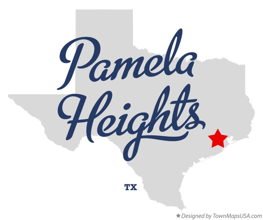 Map of Pamela Heights Texas TX