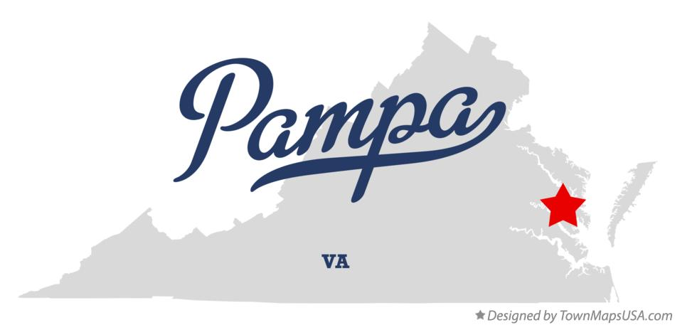Map of Pampa Virginia VA