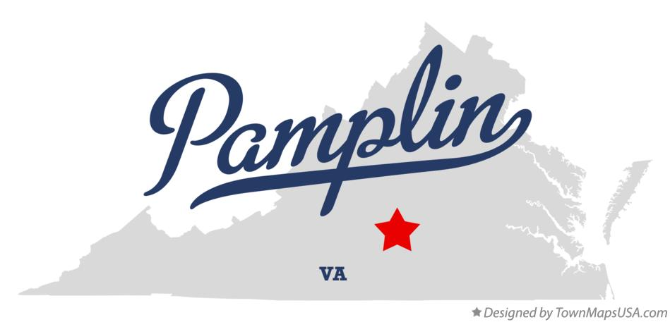 Map of Pamplin Virginia VA