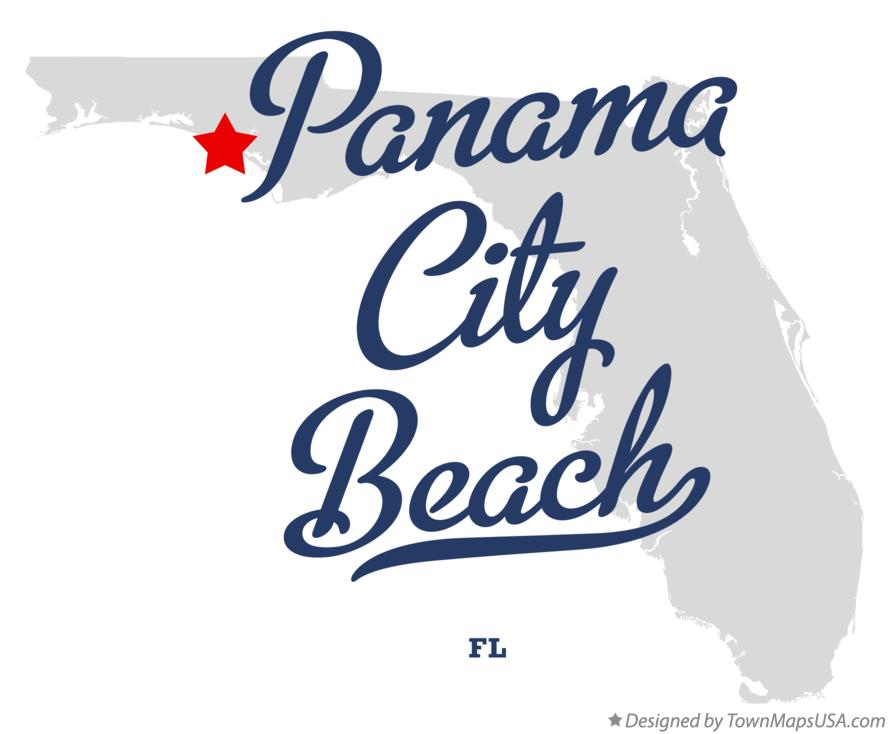 Map of Panama City Beach Florida FL