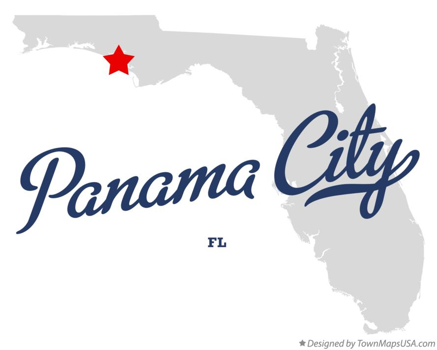 Panama City Map Of Florida.Map Of Panama City Fl Florida