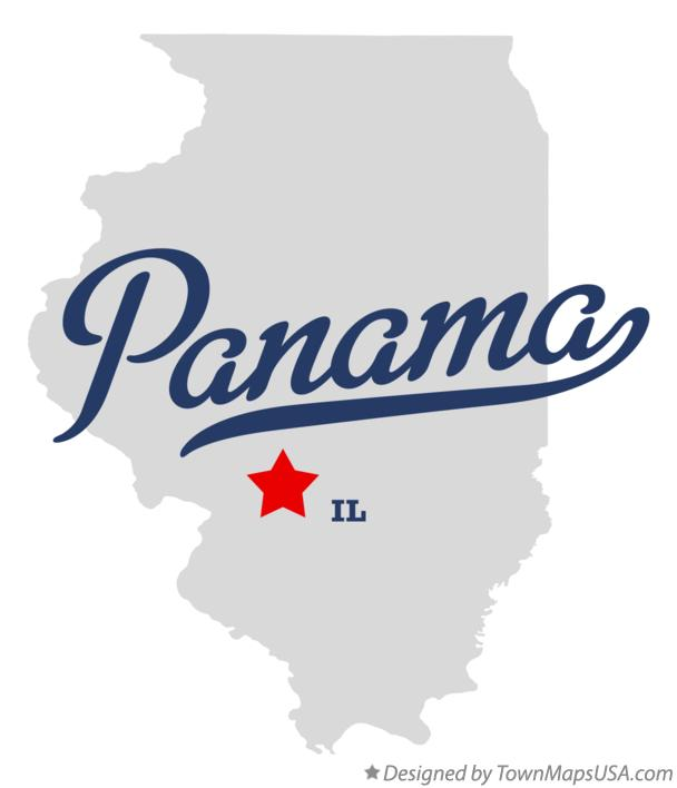 Map of Panama Illinois IL