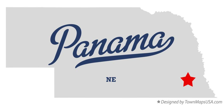 Map of Panama Nebraska NE