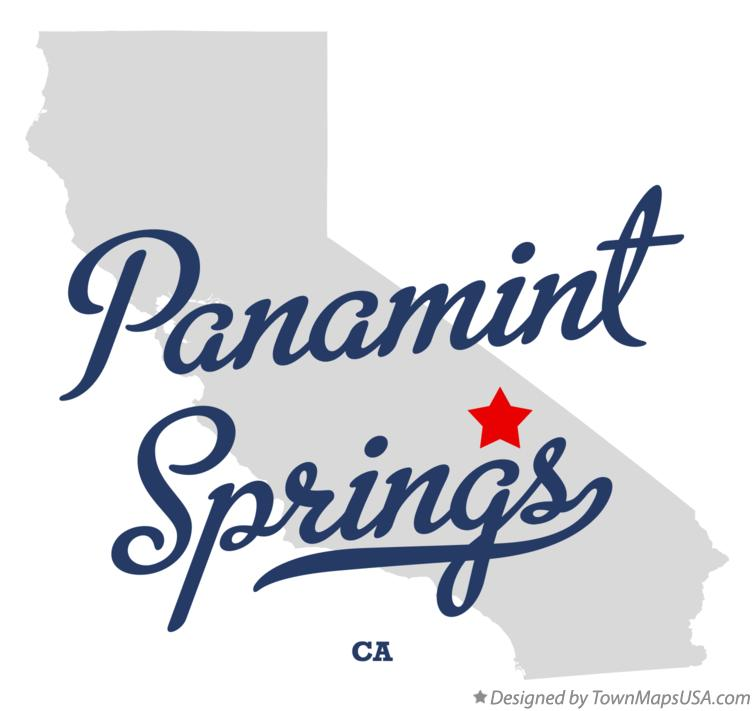 Map of Panamint Springs California CA