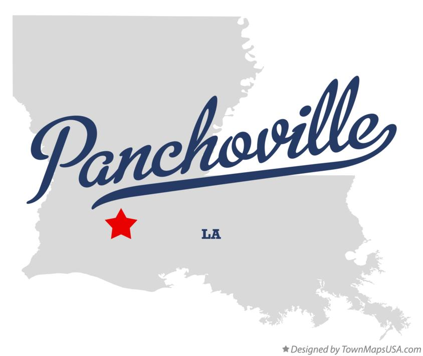 Map of Panchoville Louisiana LA