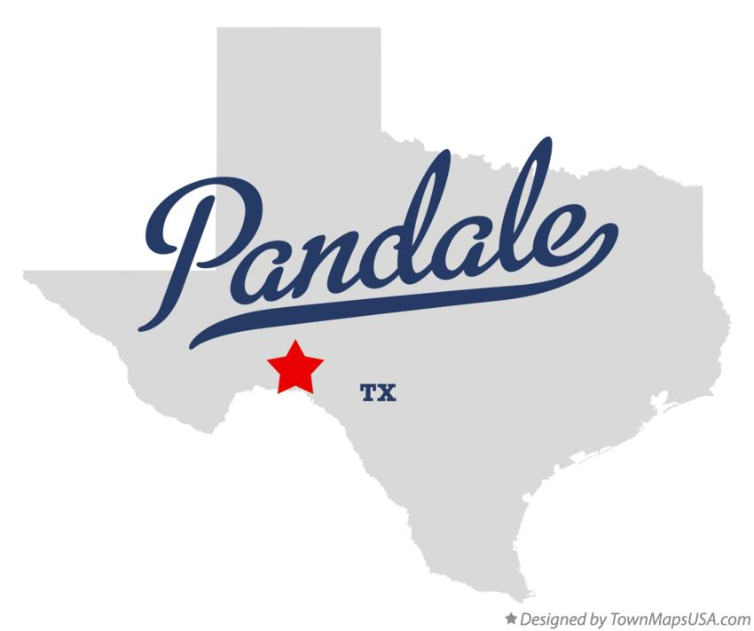Map of Pandale Texas TX