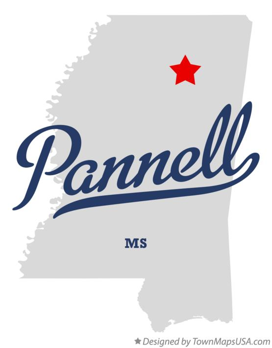 Map of Pannell Mississippi MS