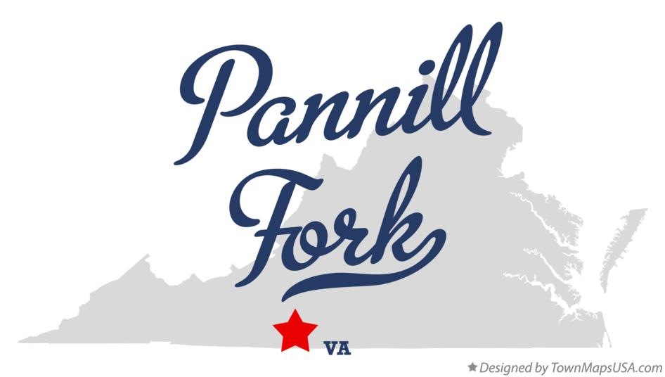 Map of Pannill Fork Virginia VA