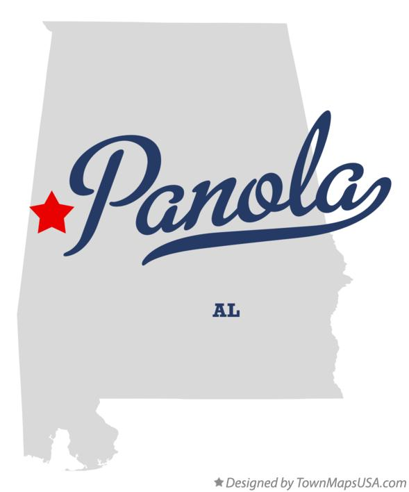 Map of Panola Alabama AL