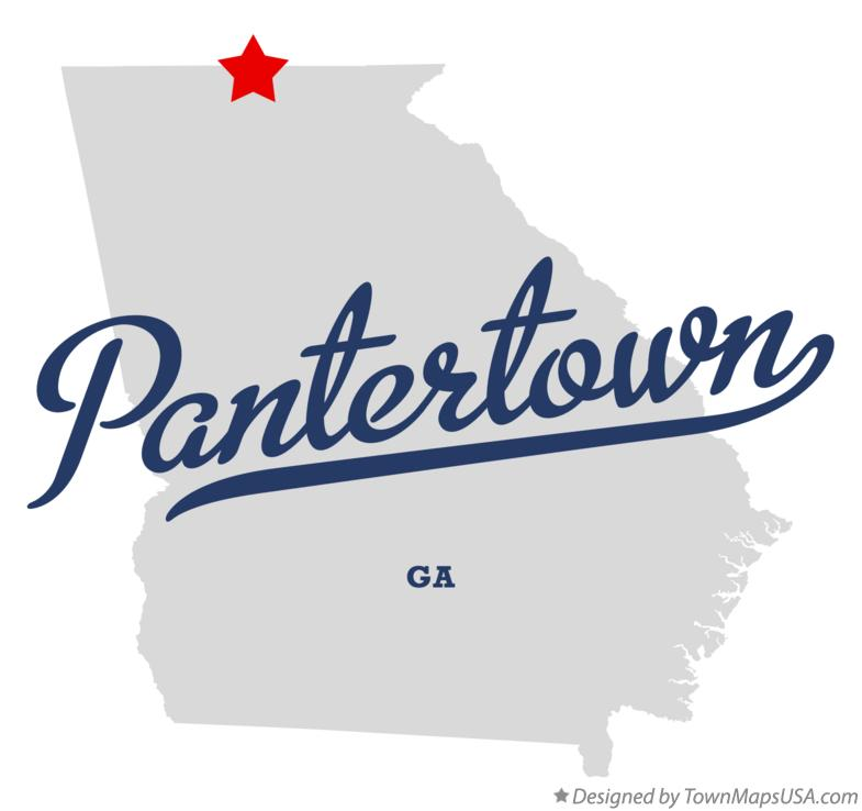 Map of Pantertown Georgia GA