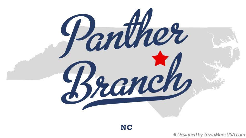 Map of Panther Branch North Carolina NC