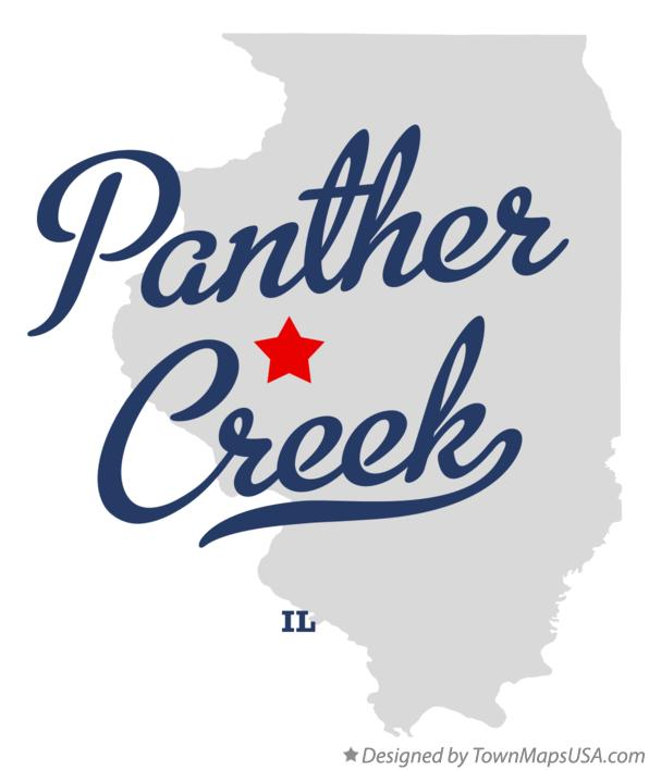 Map of Panther Creek Illinois IL