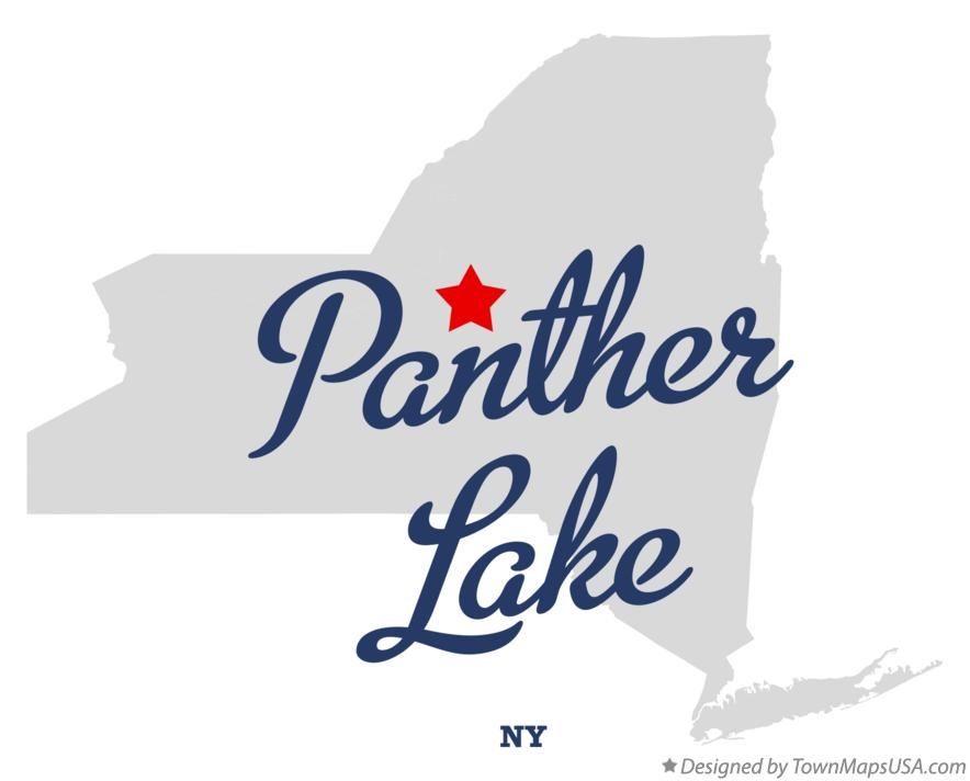 Map of Panther Lake New York NY