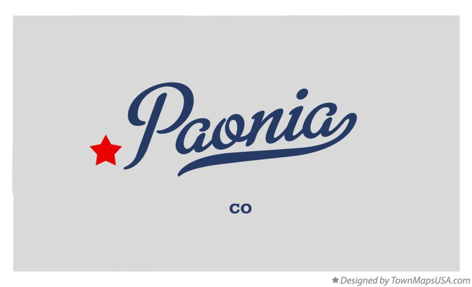 Map of Paonia Colorado CO