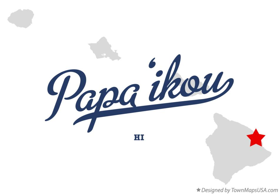 Map of Pāpa'ikou Hawaii HI