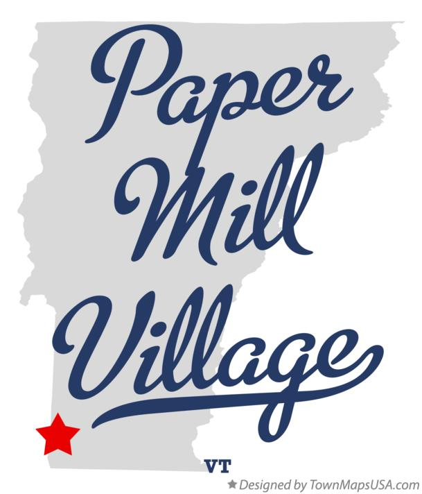 Map of Paper Mill Village Vermont VT