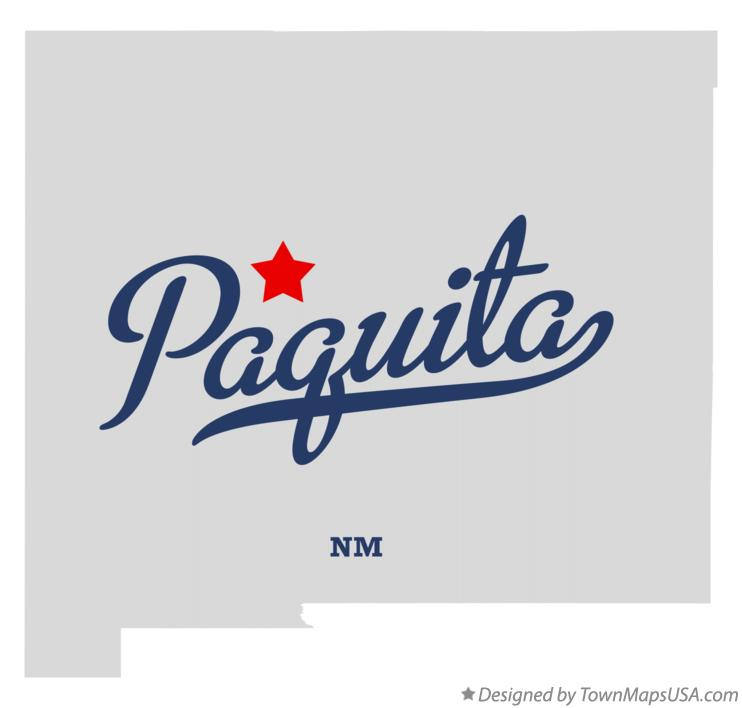 Map of Paquita New Mexico NM