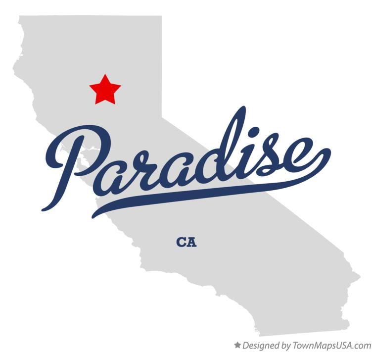 Paradise California Map.Map Of Paradise Butte County Ca California