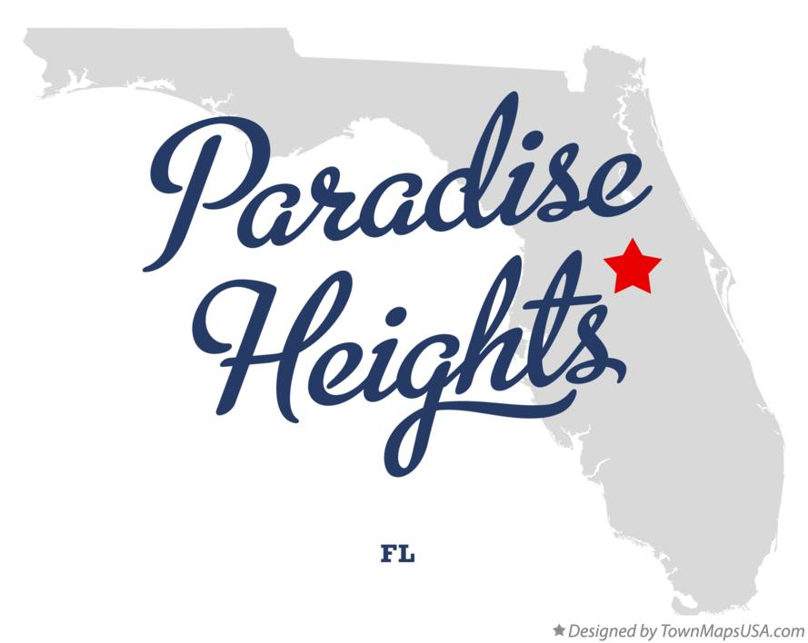 Map of Paradise Heights Florida FL