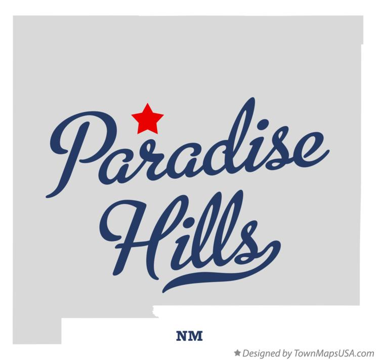 Map of Paradise Hills New Mexico NM