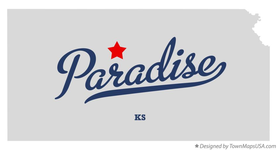 Map of Paradise Kansas KS