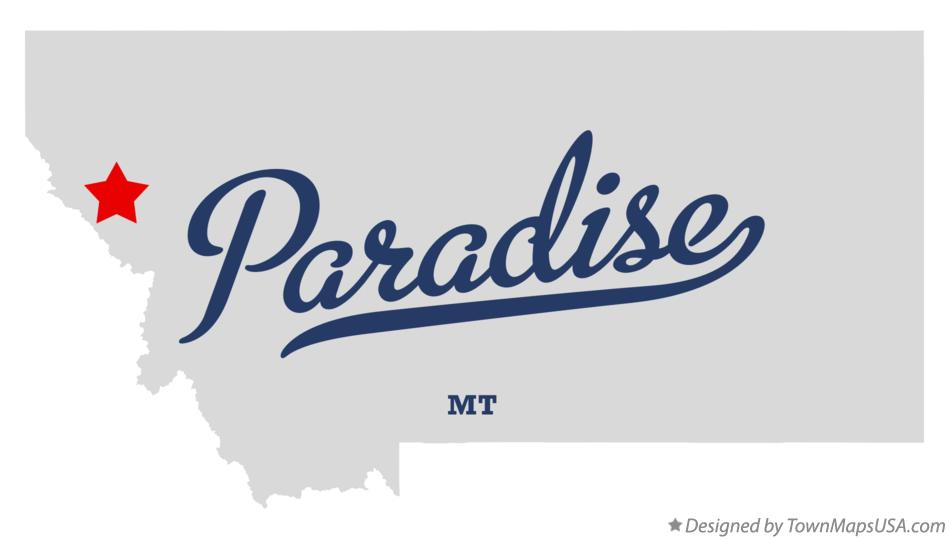 Map of Paradise Montana MT