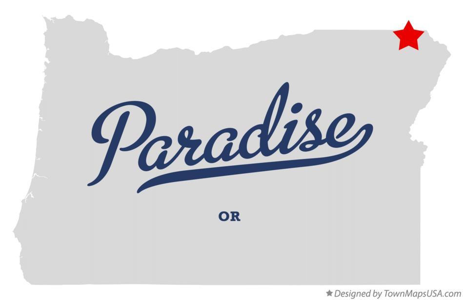 Map of Paradise Oregon OR