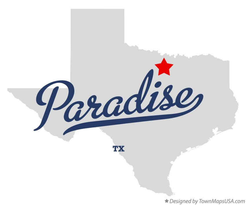Paradise Texas Map Map of Paradise, TX, Texas