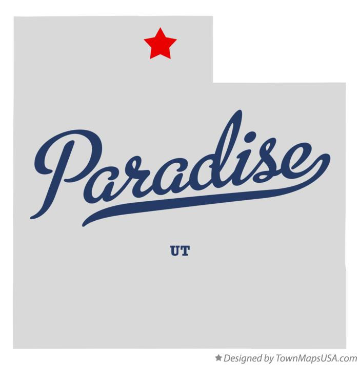 Map of Paradise Utah UT