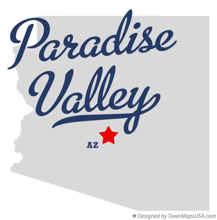 Map of Paradise Valley Arizona AZ