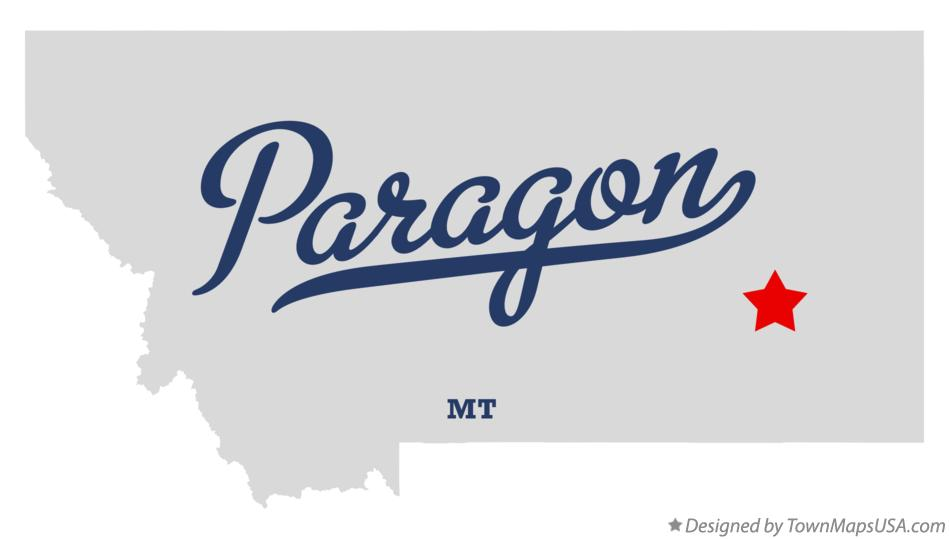 Map of Paragon Montana MT