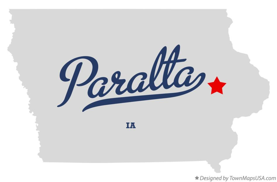 Map of Paralta Iowa IA