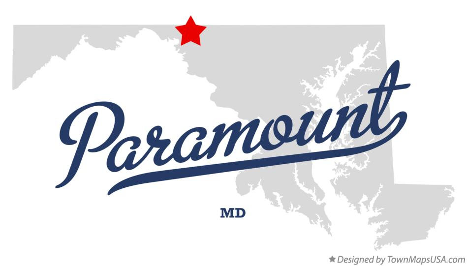Map of Paramount Maryland MD
