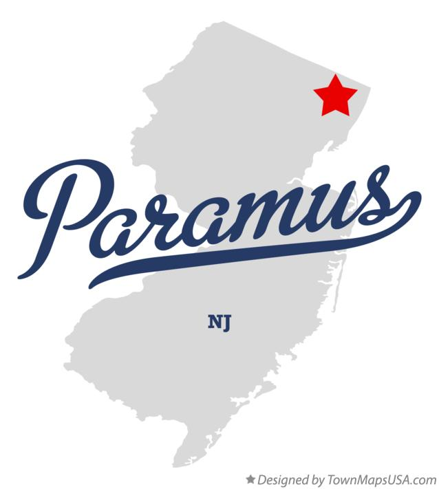 Map of Paramus New Jersey NJ