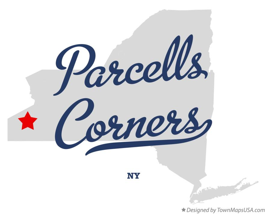 Map of Parcells Corners New York NY