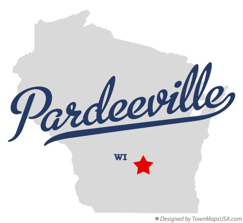 Map of Pardeeville Wisconsin WI