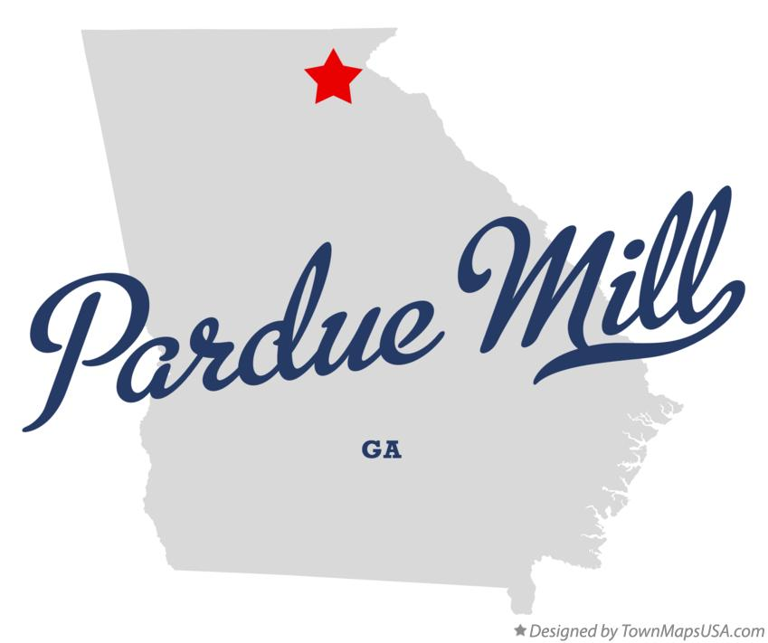 Map of Pardue Mill Georgia GA