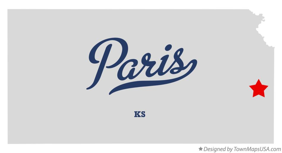 Map of Paris Kansas KS