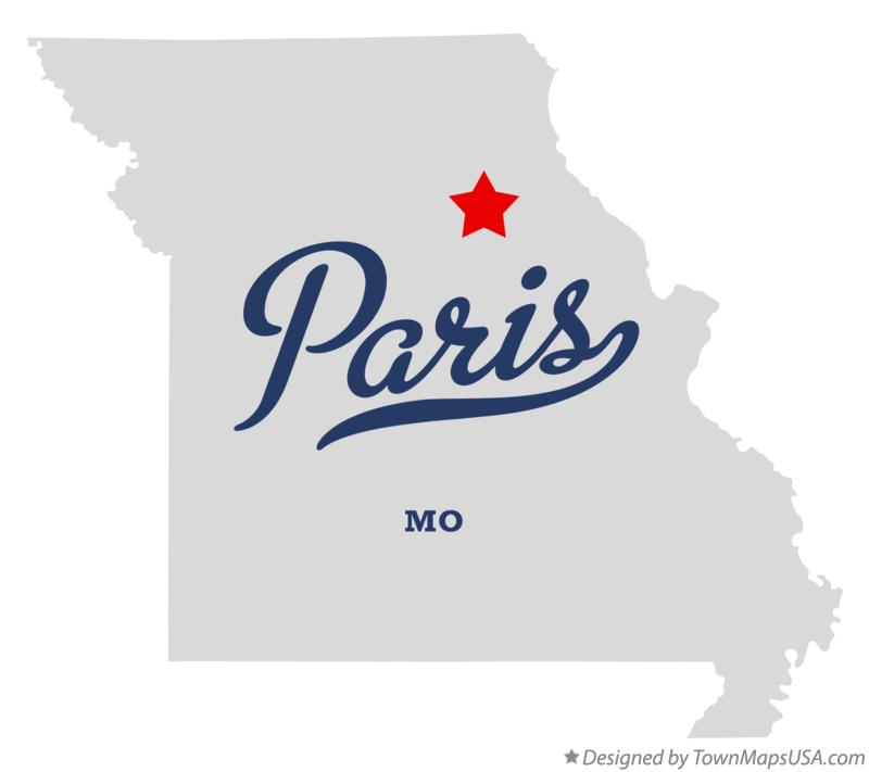 Map of Paris Missouri MO