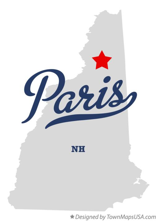 Map of Paris New Hampshire NH