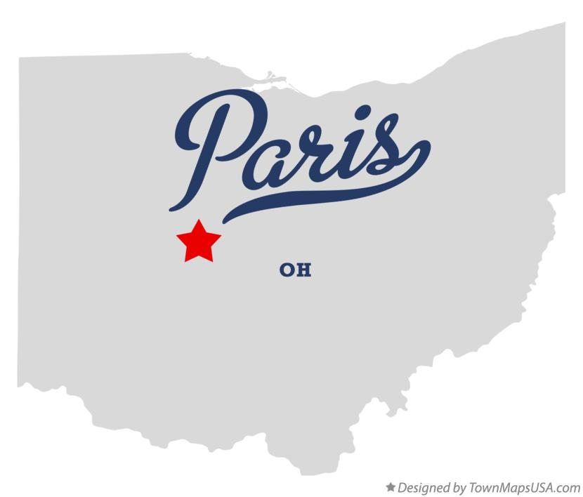 Map of Paris Ohio OH