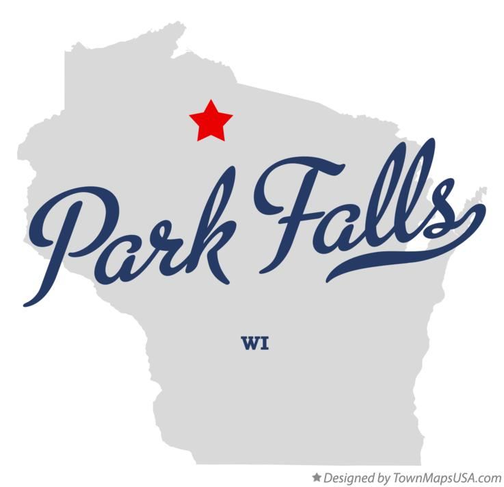 4800 Miles Only In Redwood City California United States: Map Of Park Falls, WI, Wisconsin