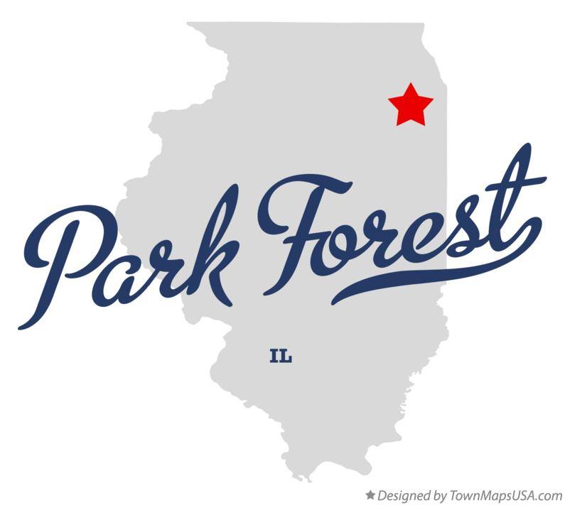 Map of Park Forest Illinois IL