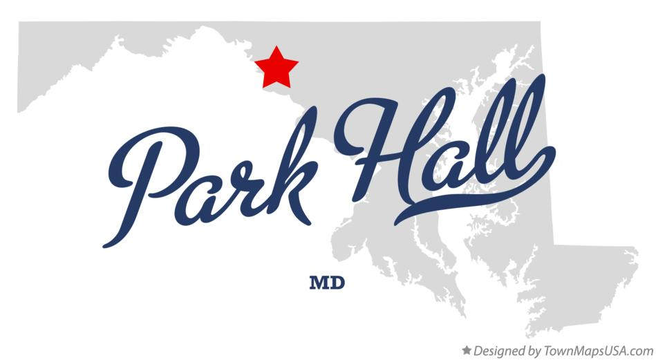 Map of Park Hall Maryland MD