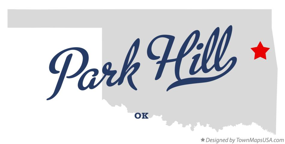 Map of Park Hill Oklahoma OK