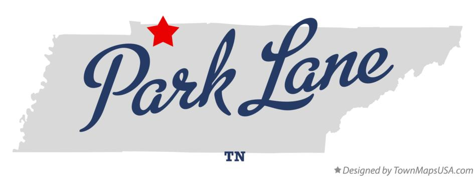 Map of Park Lane Tennessee TN