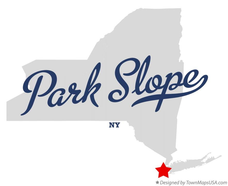 Map of Park Slope New York NY