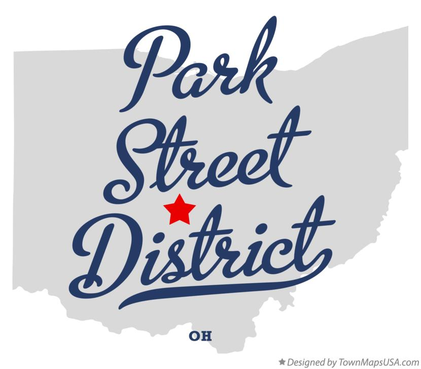 Map of Park Street District Ohio OH